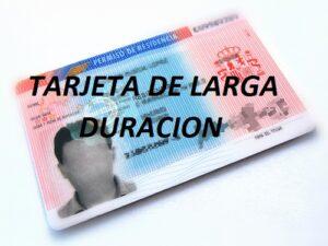 tarjeta de larga duración